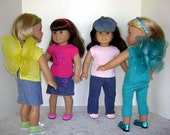 "ONE T-Shirt for American Girl, similar 18"" Dolls, Bitty Baby, many baby dolls, teddy bears and stuffed animals"