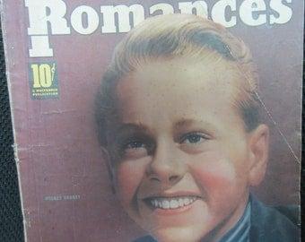 Vintage February 1939 True Romances Magazine Mickey Rooney Wings of the Navy Karo Syrup Advertising Movie Stars Celebrities