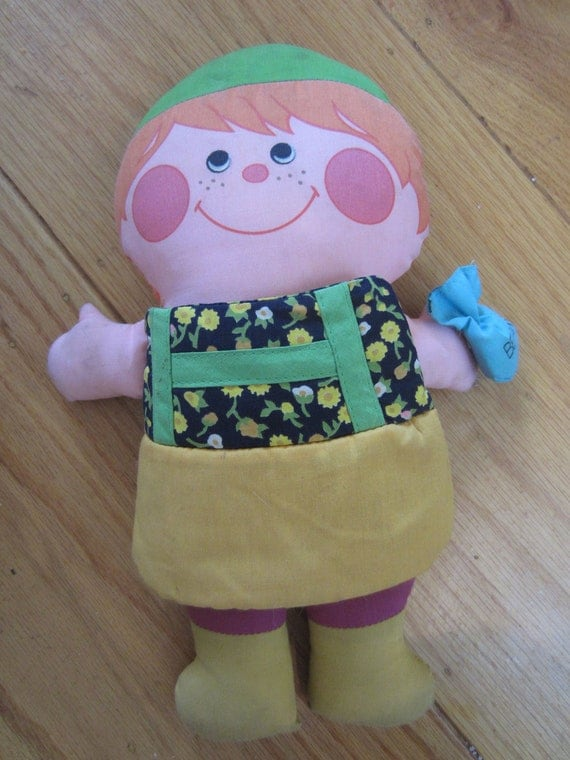 Vintage 1973 Playskool Jack & the Beanstalk Cloth Storybook Doll A MILTON BRADLEY Company Toy