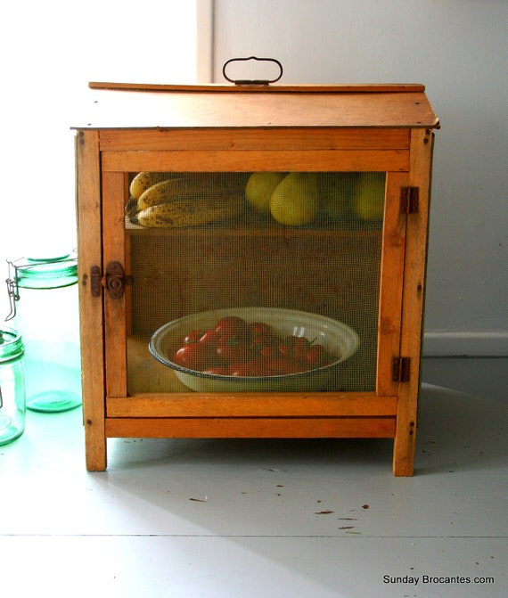 French Vintage Garde Manger, Cheese and Fruit Keeper