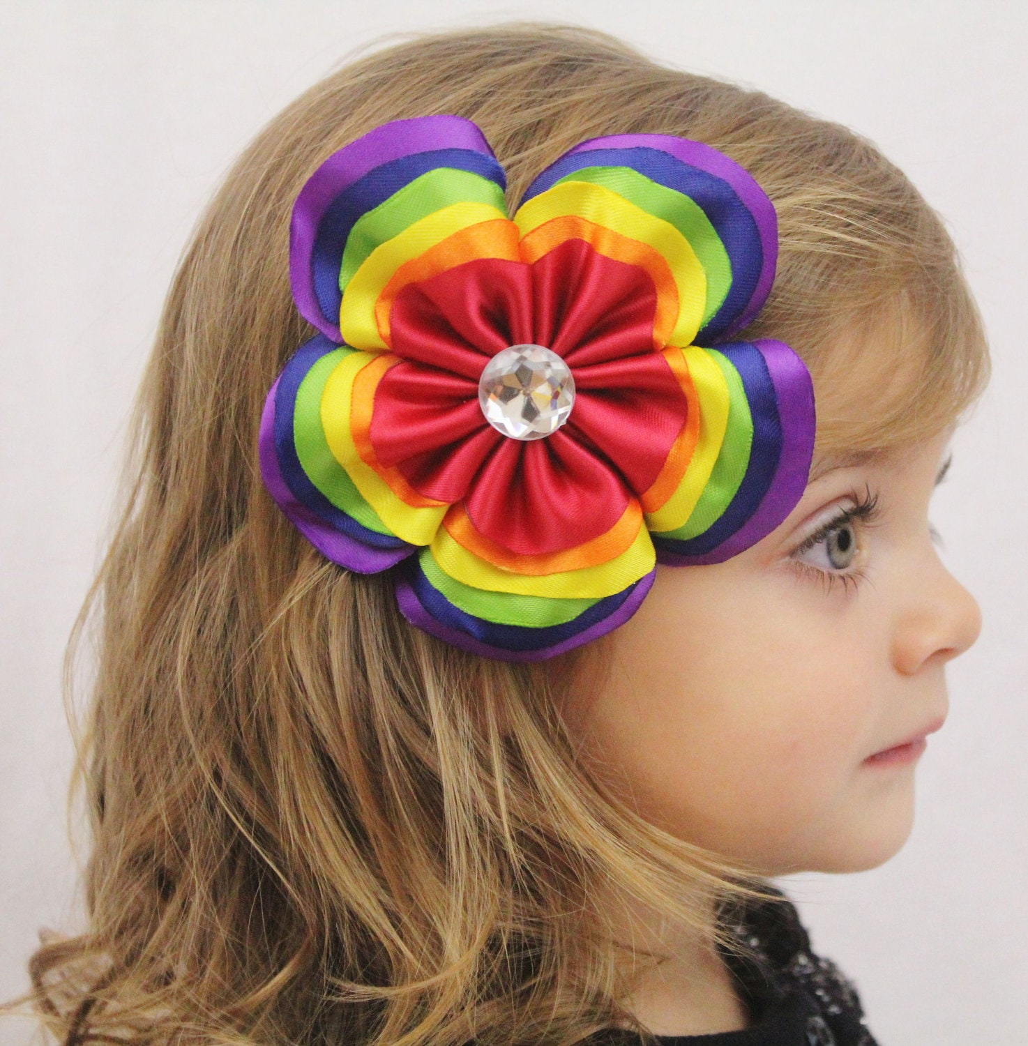 Layer Flower Layered Rainbow Flower Hair