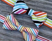 Child Bow Tie- Rainbow Stripes
