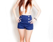 EmilieGray 50s pinup nautical shorts high-waisted shorts