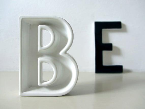 Vintage Ceramic Letter B