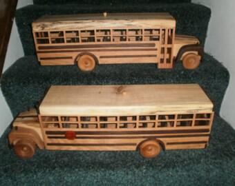 Schoolbus Replica Handcrafted Wooden