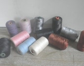 Various Pastel Sewing Thread Spools