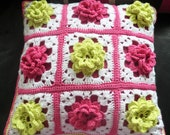 Instant Download 272. Beautiful crochet Cushion Granny Squares Modern update on the traditional Crochet Pattern  - PDF -  EMail download