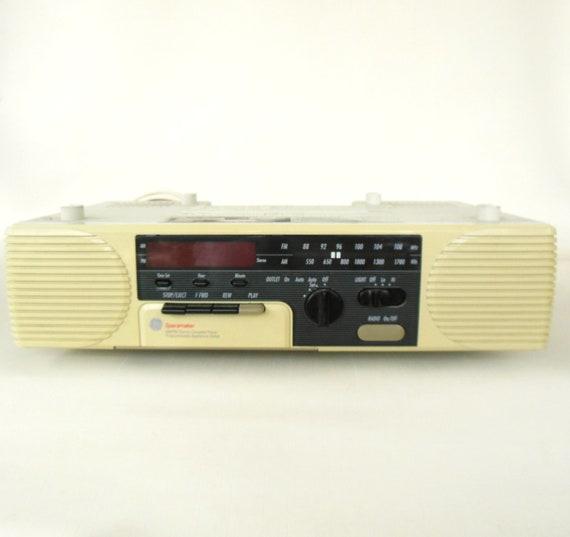Kitchen Under Cabinet Radio Cd Player: GE Spacemaker Cassette Clock Radio Under Cabinet 7-4285A