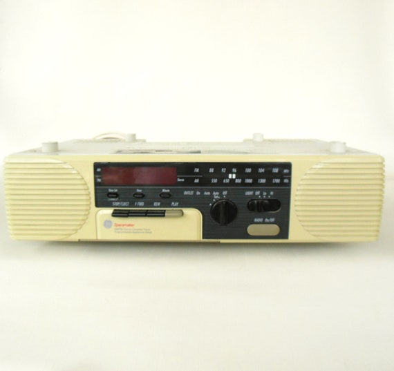 Ge Spacemaker Cassette Clock Radio Under Cabinet 7 4285a
