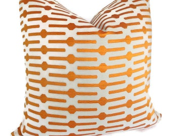 Annie Selke Orange Links Decorative Pillow Cover 12x20 or 12x18 lumbar pillows