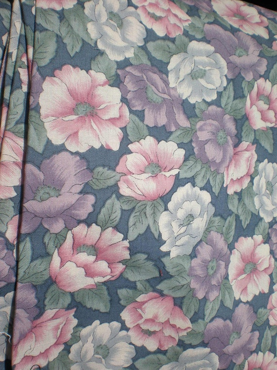 Cotton Fabric Floral Dusty Country Side Collection by Hoffman