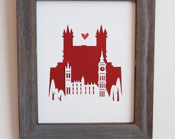 London. England - Big Ben.  Personalized Gift or Wedding Gift