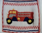 T Shirt smocked with a Flashing Firetruck