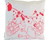 Cushion Cover 'Fluor UP ' 45x45 cm - hand screen printed