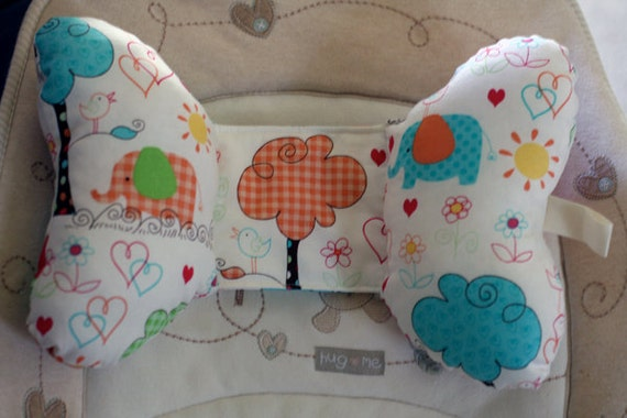 Infant Toddler Car Seat Stroller Butterfly Head Support