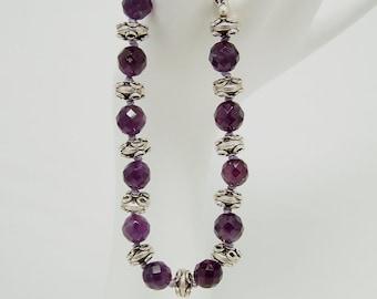 Amethyst & Sterling Silver Bracelet 133BA