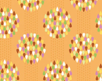 36008 Erin McMorris Summersault - Raindrops in Apricot color- 1 yard