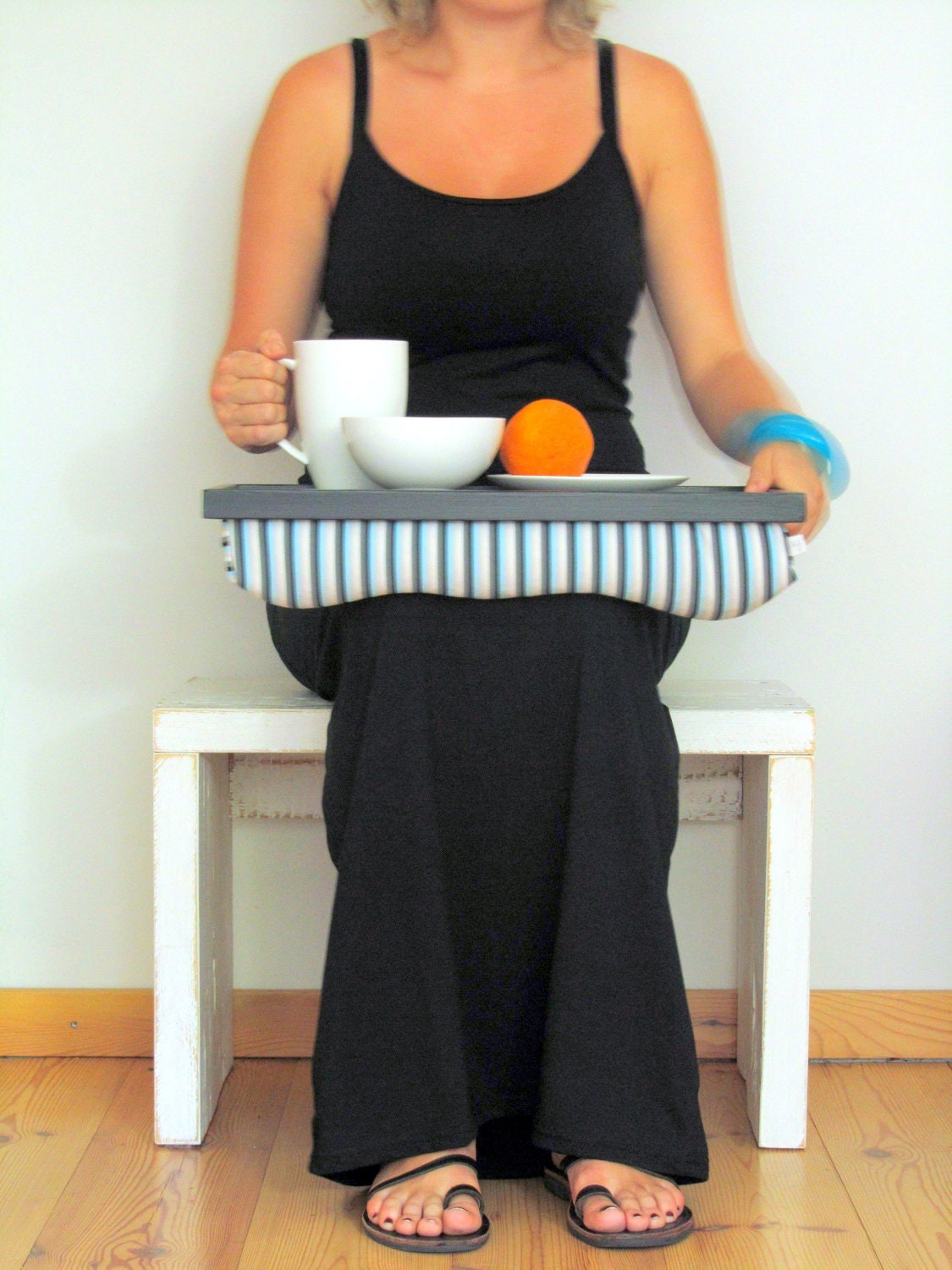 Laptop Lap Desk or Breakfast serving Tray Stable table
