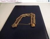 Store Closing SALE Beautiful Vtg Chain Link Bracelet, AJC Co, 1960s, Excellent