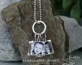 Necklace, Charm Necklace, Photo Necklace, Photo Jewelry, Custom Photo Charm Necklace, 3 charms, Holiday gift for Mom, Grandma or Best friend