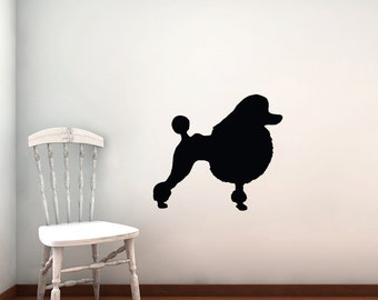 Poodle Wall Decal - Vinyl Sticker