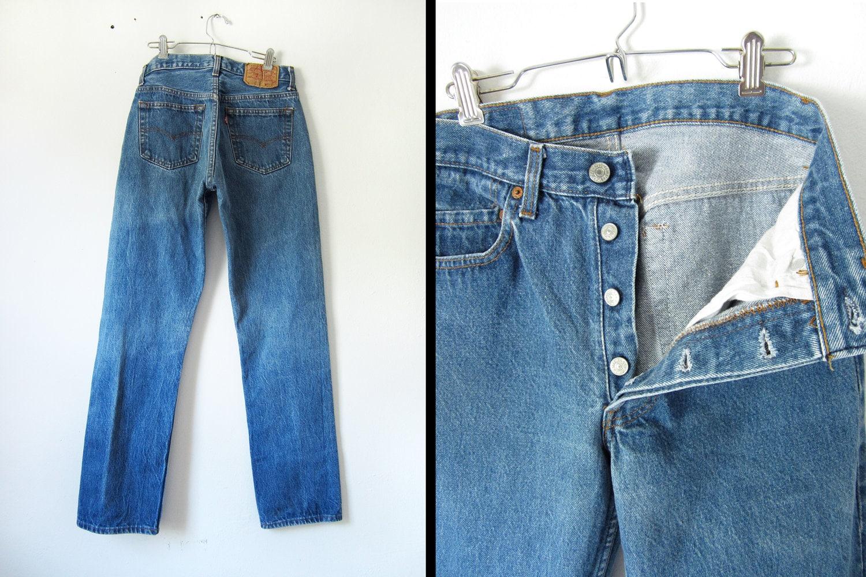 Levis 501 Jeans Vintage Button Fly 80s Size 29 x 32