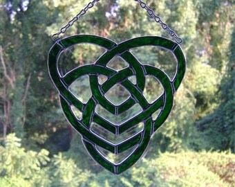 Celtic Motherhood Knot Stained Glass