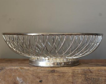 Silver Wire Bowl. Geometric Bowl. Mid Century. Platner Inspired.  Entire collection available