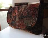 Martina Baby Cord Corduroy Handbag, Rich Floral Print, Fall Colors