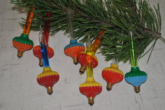 Lot Of 8 Vintage Noma Biscuit Christmas Bubble Lights