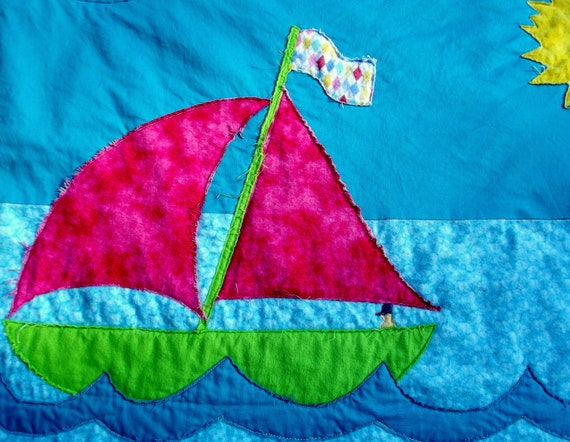 """Baby Quilt """"Sailing"""""""