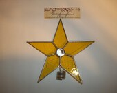 Small Table Top Tree Topper, Simple Classic Stained Glass Star
