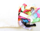 Grab Bag Set of 18 Hair Ties with Pouch, No Crease Rubber Bands, Hair Elastic, Ponytail Holder
