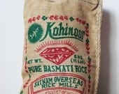 Vintage Tote - Burlap Basmati Rice Bags from India - Set of 2
