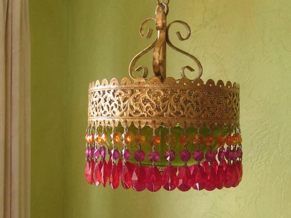 Chandelier Lighting,  Autumn Gypsy, Handmade