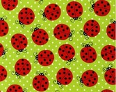 Picnic Party - Ladybug green from Pink Light Design from Robert Kaufman