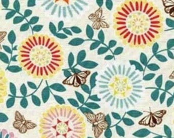 SALE - Papillon by Jessica Swift - Light Green Floral from Red Rooster Fabrics