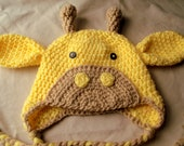 SALE- Crocheted Giraffe Hat- You Choose size and colors- Check out shop announcement for sale details