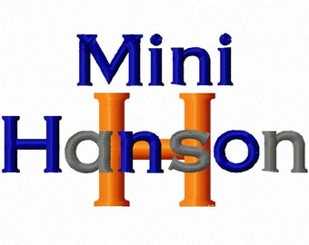 Mini Hanson Machine Embroidery Font - Sizes .5in. (half inch) BUY 2 get 1 FREE - Mini Fonts