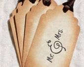 25 Wedding Tags Wedding Favors Wedding Gift Tags