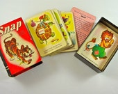 SNAP CARD GAME Vintage Animals Complete Whitman Publishing Company