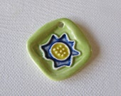 Blue and Yellow Flower Pendant