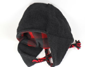 Cozy Ear Flap Hat - Fully Lined in Your Choice of Polar Fleece