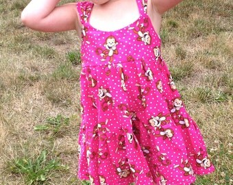 Happy Monkeys Pink Sun Dress