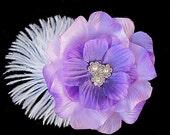 Tara - Lavendar Purple Gardenia Flower Hair Clip