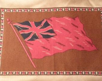 Vintage England Felt Cigar Flag, Vintage Cigar Box, Vintage Collectible, Vintage Flag
