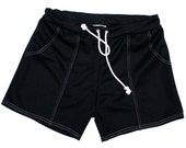 Frankie Four Handmade Men's Vintage Style Black Swim Trunks