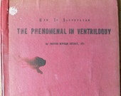 1949 book How To Accomplish the Phenomenal In Ventriloquy red mimeographed book from Diz Has Neat stuff