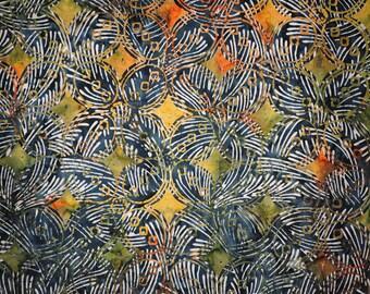 Sale! Jungle Cotton Batik Print  1 yd