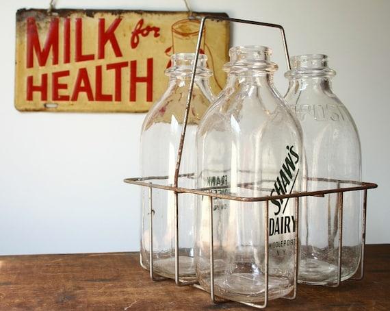 vintage milk bottle carrier vintage milk bottles by. Black Bedroom Furniture Sets. Home Design Ideas